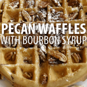Rachael Ray: Oat, Bacon & Pecan Waffles Recipe with Bourbon Syrup