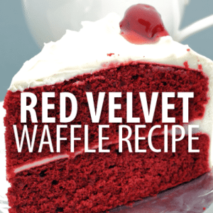 Rachael Ray: Red Velvet Waffle Recipe with Cream Cheese Drizzle