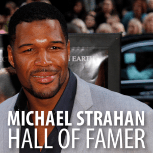 Michael Strahan Football Hall of Fame Induction & Super Bowl Bet