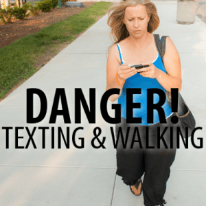 Texting and Walking Subway & New York City School Snow Day Safety