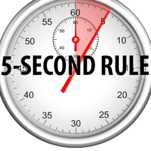 five second rule The 5-second rule is a bias towards action instead of overthinking and been  taken over by fear in that 5 seconds, you get the opportunity to be.
