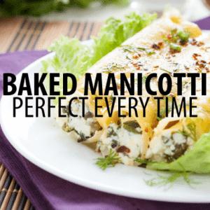 The Chew: Mario Batali Baked Manicotti Recipe & Rosie Perez Memoir