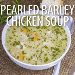Rachael Ray: Chicken and Pearled Barley Soup Recipe (Orzo Soup)