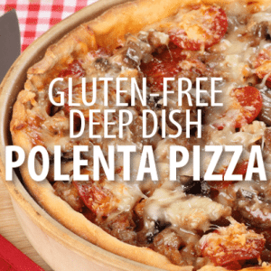 Rachael Ray: Polenta Deep-Dish White Mushroom and Sausage Pizza Recipe