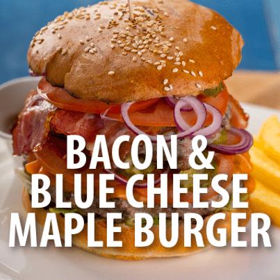 Rachael bacon blue cheese maple turkey burger recipe for Blue cheese burger recipe rachael ray
