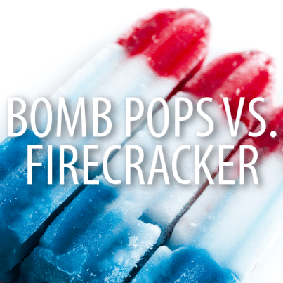 Bomb pops vs firecrackers blanco