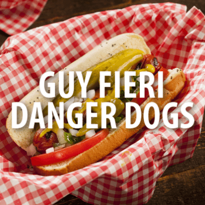 The Chew TV Show: Guy Fieri Danger Dogs Recipe & Guy On Fire Cookbook