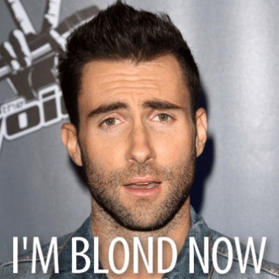 Today: Adam Levine Blond Hair + Aaron Taylor-Johnson American Accent