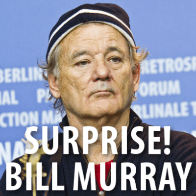 GMA: Bill Murray Crashes Engagement Pictures + Prince George Walking