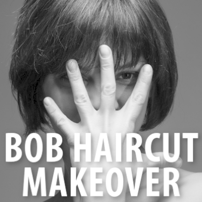 Today Makeovers: Bob Haircut, Maggy London Nautical Dress + Faux Wrap