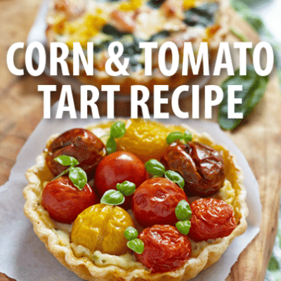 Superstar Chef Daniel Boulud Farm-To-Table Corn and Tomato Tart