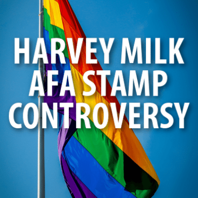 David Letterman: AFA Harvey Milk Stamp Controversy + NY Sandwich Bee