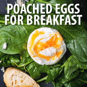 ... poached eggs and a Spicy Sausage and Feta Strata recipe. (Natasha