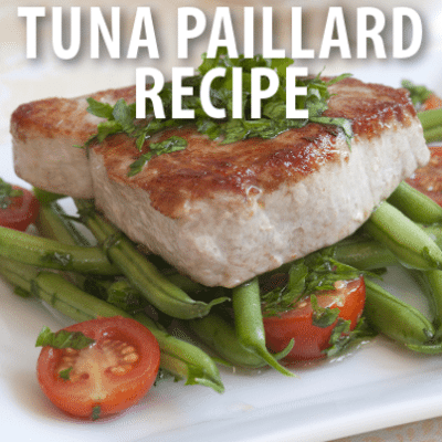 Superstar Chef Eric Ripert Farm-To-Table Grilled Tuna Paillard