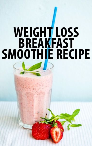 Dr Oz Two Week Rapid Weight Loss Diet Breakfast Smoothie Recipe