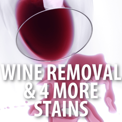 how to clean red wine out of clothes