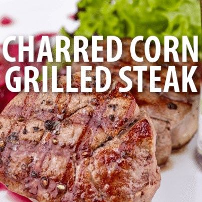 ... Chew: Mario Batali's Grilled Steak with Charred Corn & Pepper Salad