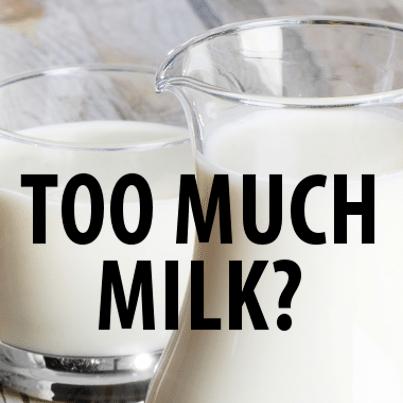 rubbing milk