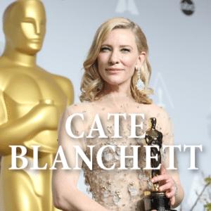 "Academy Award Winner Cate Blanchett + Best Actress For ""Blue Jasmine"""