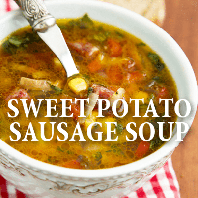 Sweet Potato and Sausage Soup is another simple one-pot dinner from ...