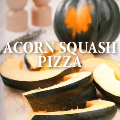 Roasted Acorn Squash & Gorgonzola Pizza Recipe + Brussels Sprout Salad