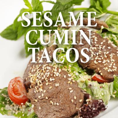Rachael Ray MYOTO Night: Sesame-Cumin Beef Lettuce Tacos Recipe