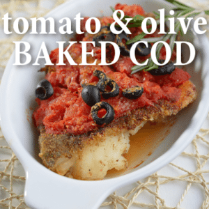 Live!: Stanley Tucci Cod Baked with Tomatoes and Olives Recipe