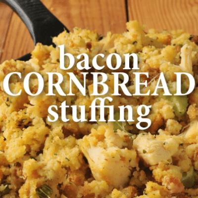 Sweet Tea Brined Deep Fried Turkey Recipe + Bacon Cornbread Stuffing