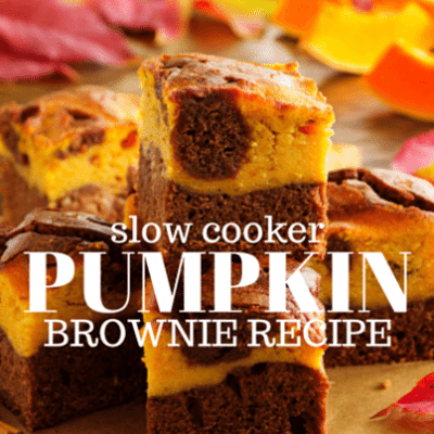Ryan Scott: Slow Cooker Pumpkin Brownies Recipe with Cream Cheese