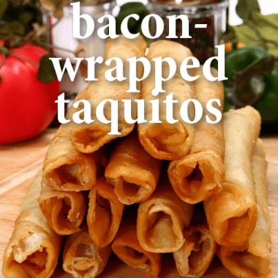 The Talk: Duff Goldman Bacon-Wrapped Cheeseburger Taquitos Recipe