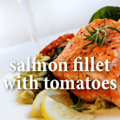 KLG & Hoda: Andy Medina Salmon Fillet with Sundried Tomatoes Recipe