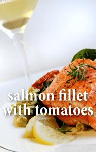 KLG & Hoda: Andy Medina Salmon Fillet with Sundried Tomatoes Recipe