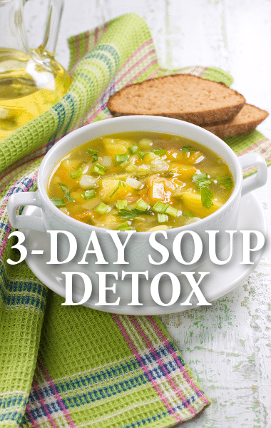 Dr Oz: 3-Day Souping Detox + Breakfast Berry Soup & Vegetable Base
