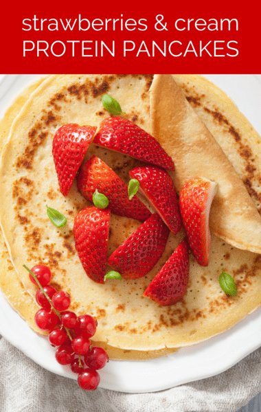 Dr Oz: Strawberries & Cream Protein Pancakes Recipe