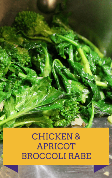 Dr Oz: Broccoli Rabe With Chicken & Apricots Recipe
