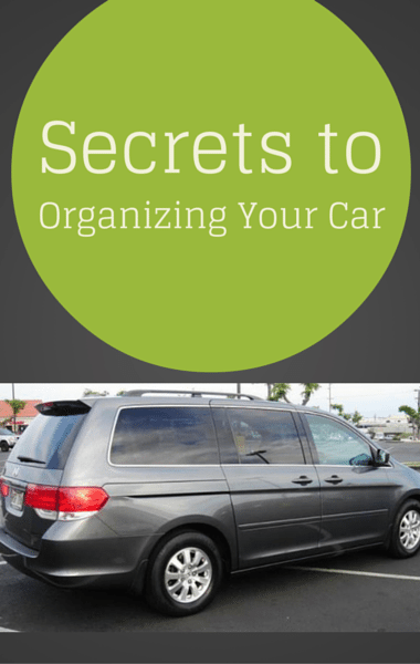 Dr Oz: Organize Your Car + Wine Stain & Soap Scum Cleaning Hacks