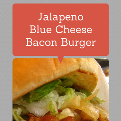 Rachael ray jalapeno blue cheese bacon burger potato latkes for Blue cheese burger recipe rachael ray