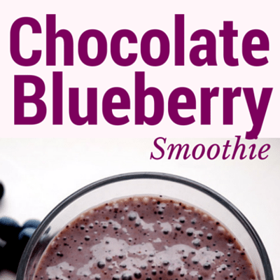 Drs: Peanut Butter Strawberry & Chocolate Blueberry Smoothie