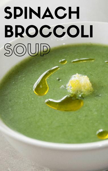 Rachael Ray: Spinach Broccoli Soup + Garlic Naan Bread Pizza
