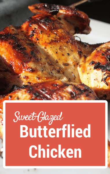 Rachael Ray: Sweet-Glazed Butterflied Chicken + Roast Pork Loin