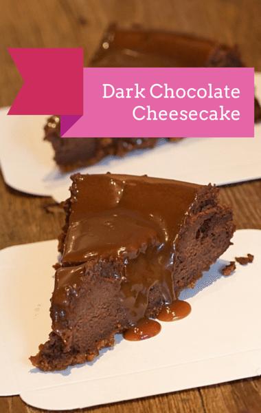 The Chew: Dark Chocolate Cheesecake + Baba Ghanoush