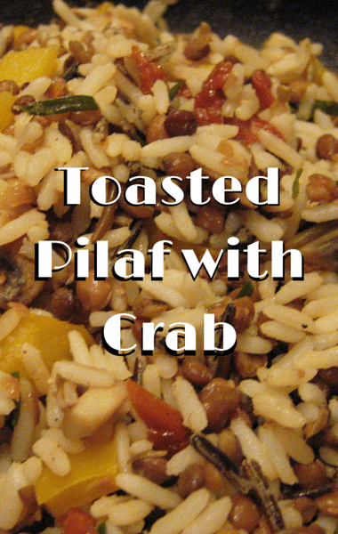 The Chew: Toasted Pilaf With Crab + Polenta & Broccoli Filomena