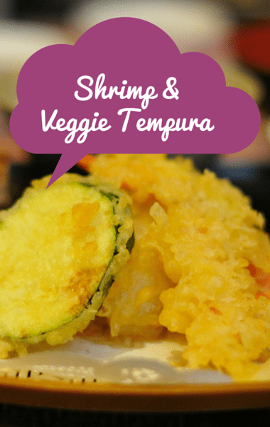 The Chew: Shrimp & Veggie Tempura + Chickpea Fritters