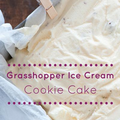 Grasshopper Ice Cream Cookie Cake