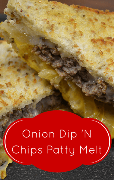 Rachael Ray: Snack Rolls + Onion Dip 'N Chips Patty Melt Recipe