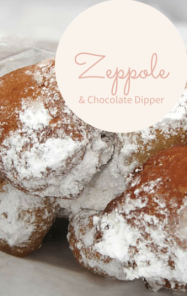 Rachael Ray: Zeppole & Chocolate Dipper + Italian Combo Hoagies