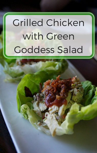 The Chew: Grilled Chicken & Green Goddess Salad + Cherry Crostata