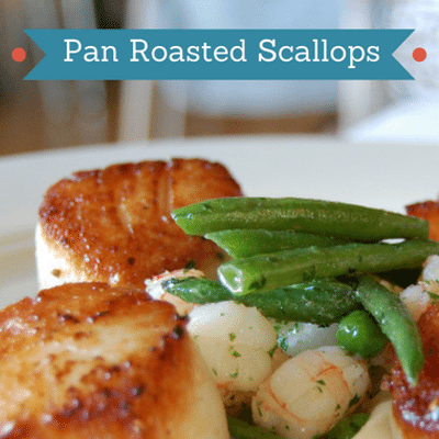 The Chew: Pan Roasted Scallops + Acorn Squash Goat Cheese Tart