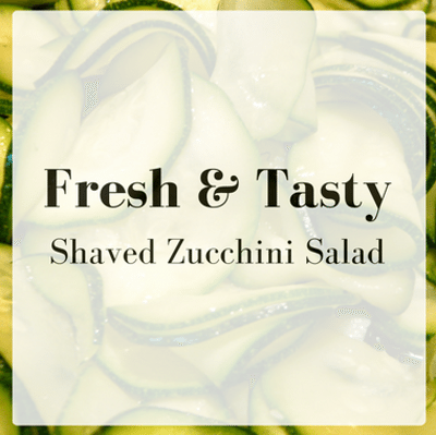 The Chew: Shaved Zucchini Salad + Spicy Shrimp Succotash