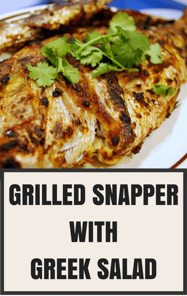 The Chew: Grilled Snapper With Greek Salad Recipe